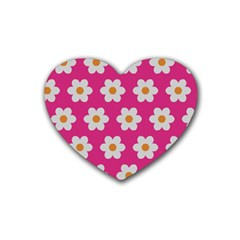 Daisies Drink Coasters 4 Pack (Heart)