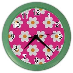 Daisies Wall Clock (color)