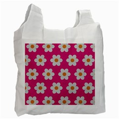 Daisies White Reusable Bag (Two Sides)