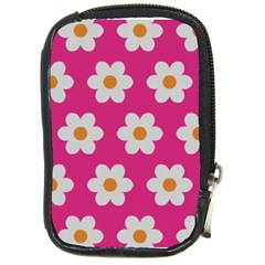 Daisies Compact Camera Leather Case