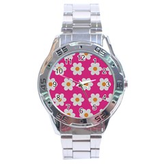 Daisies Stainless Steel Watch