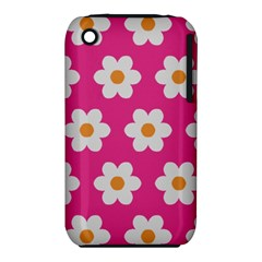 Daisies Apple Iphone 3g/3gs Hardshell Case (pc+silicone)