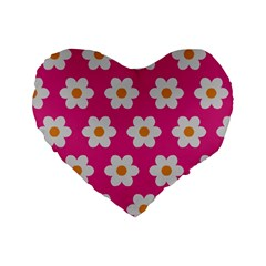 Daisies 16  Premium Heart Shape Cushion