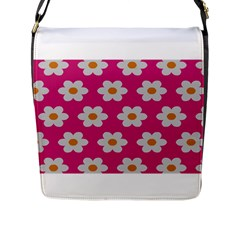 Daisies Flap Closure Messenger Bag (Large)