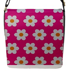 Daisies Flap Closure Messenger Bag (Small)