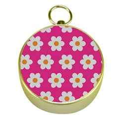 Daisies Gold Compass