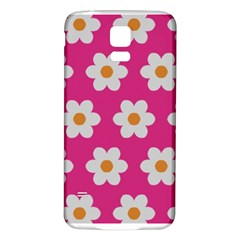 Daisies Samsung Galaxy S5 Back Case (White)