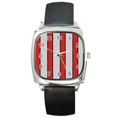Image Square Leather Watch