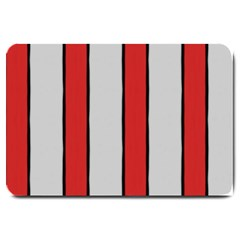 Red And White Stripes Large Door Mat