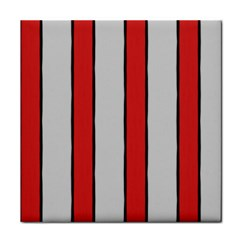 Red and White Stripes Face Towel
