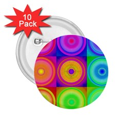 Retro Circles 2.25  Button (10 pack)