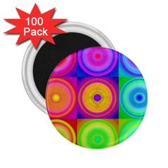 Retro Circles 2.25  Button Magnet (100 pack)