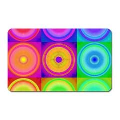 Retro Circles Magnet (Rectangular)