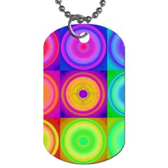 Retro Circles Dog Tag (Two-sided)