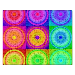 Retro Circles Jigsaw Puzzle (rectangle)