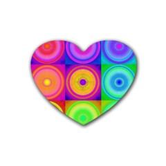 Retro Circles Drink Coasters (heart)