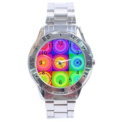 Retro Circles Stainless Steel Watch