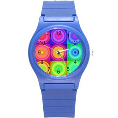Retro Circles Plastic Sport Watch (Small)