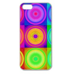 Retro Circles Apple Seamless Iphone 5 Case (clear)