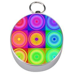 Retro Circles Silver Compass