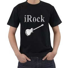 iRock Men s Two Sided T-shirt (Black)