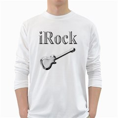 iRock Men s Long Sleeve T-shirt (White)