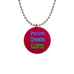 Imagine Create Love Button Necklace