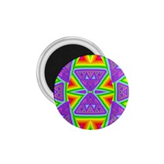 Trippy Rainbow Triangles 1 75  Button Magnet