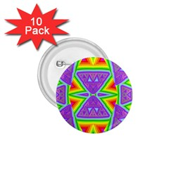 Trippy Rainbow Triangles 1 75  Button (10 Pack)