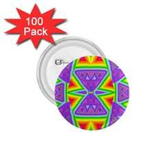Trippy Rainbow Triangles 1 75  Button (100 Pack)