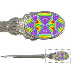 Trippy Rainbow Triangles Letter Opener