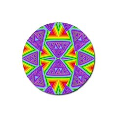 Trippy Rainbow Triangles Drink Coasters 4 Pack (round)