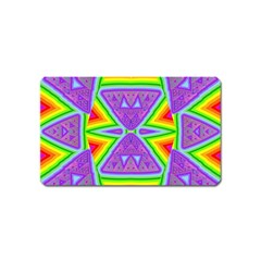 Trippy Rainbow Triangles Magnet (name Card)