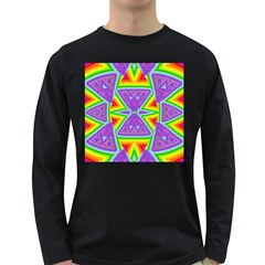 Trippy Rainbow Triangles Men s Long Sleeve T Shirt (dark Colored)