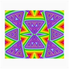 Trippy Rainbow Triangles Glasses Cloth (small, Two Sided)