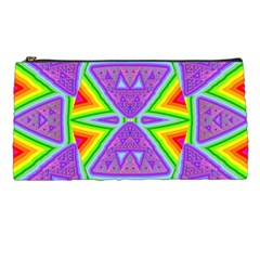 Trippy Rainbow Triangles Pencil Case