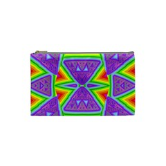 Trippy Rainbow Triangles Cosmetic Bag (small)
