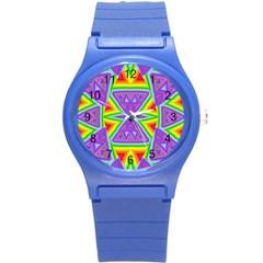 Trippy Rainbow Triangles Plastic Sport Watch (Small)