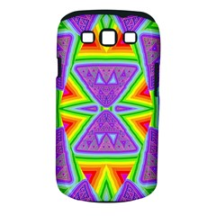 Trippy Rainbow Triangles Samsung Galaxy S III Classic Hardshell Case (PC+Silicone)