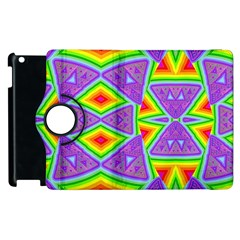 Trippy Rainbow Triangles Apple iPad 3/4 Flip 360 Case
