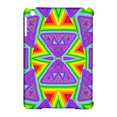Trippy Rainbow Triangles Apple iPad Mini Hardshell Case (Compatible with Smart Cover)