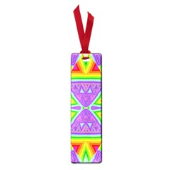 Trippy Rainbow Triangles Small Bookmark