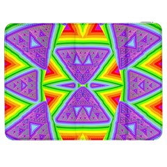 Trippy Rainbow Triangles Samsung Galaxy Tab 7  P1000 Flip Case