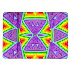 Trippy Rainbow Triangles Samsung Galaxy Tab 10.1  P7500 Flip Case