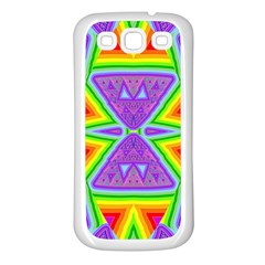 Trippy Rainbow Triangles Samsung Galaxy S3 Back Case (white)