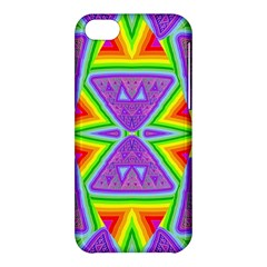 Trippy Rainbow Triangles Apple iPhone 5C Hardshell Case