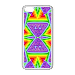 Trippy Rainbow Triangles Apple Iphone 5c Seamless Case (white)