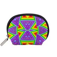 Trippy Rainbow Triangles Accessory Pouch (Small)