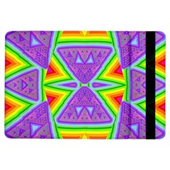 Trippy Rainbow Triangles Apple Ipad Air Flip Case