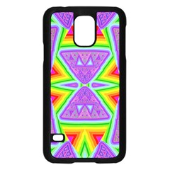 Trippy Rainbow Triangles Samsung Galaxy S5 Case (black)